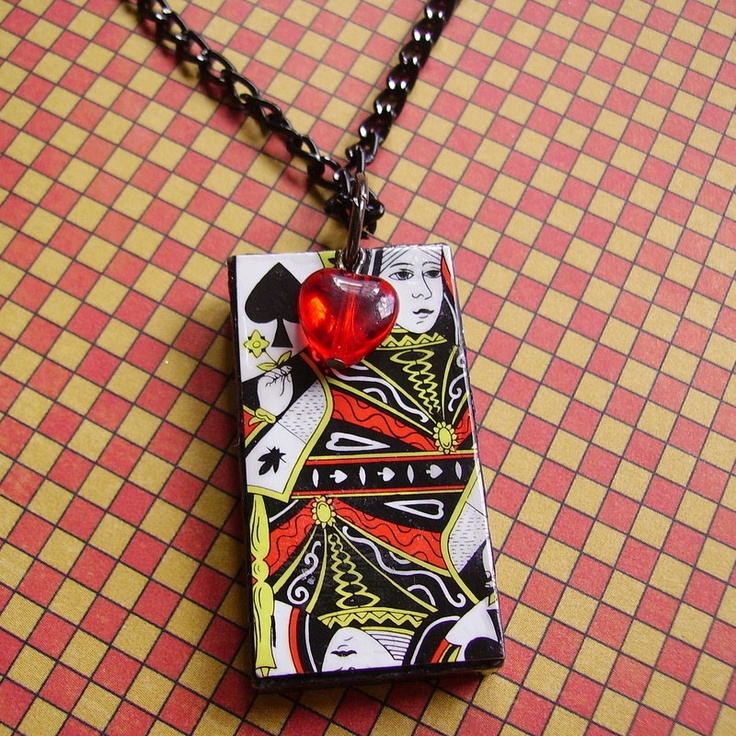 DIY playing card necklace (no tutorial found, repinning for the inspiration)