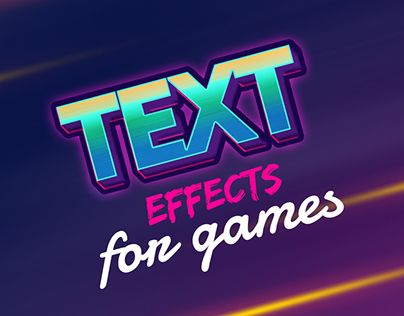 "Check out new work on my @Behance portfolio: ""Text Effects For Games""…"