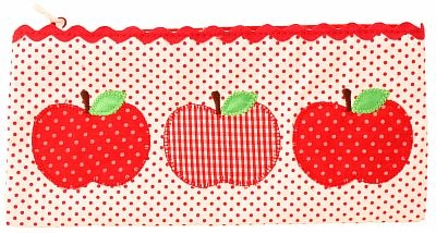 Apple trio pencilcase: great for storing bits & pieces xo