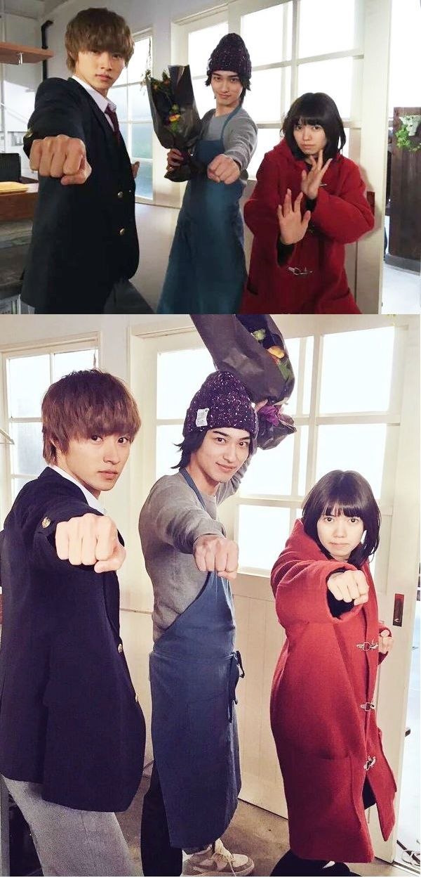 "Kento x Ryusei Yokohama x Fumi [Trailer w Eng sub] https://vimeo.com/159904936      Nanao as Kyouya's big sis. x Kento Yamazaki, J LA movie ""Ookami shoujo to kuro ouji (Wolf girl n black prince)"". Release: May/28/16"