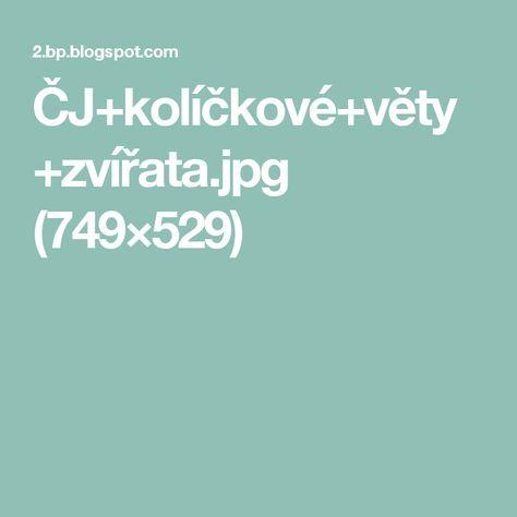 ČJ+kolíčkové+věty+zvířata.jpg (749×529)
