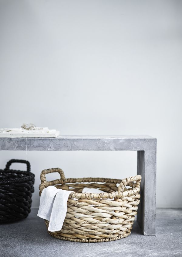 Natural materials create a warm, personal feeling in any home! The IKEA VIKTIGT basket with handles from the VIKTIGT limited collection is perfect for laundry, storage or just décor!