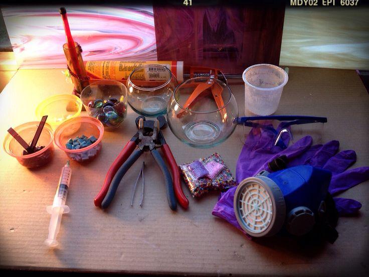 Materiales y Herramientas para realizar un porta velas