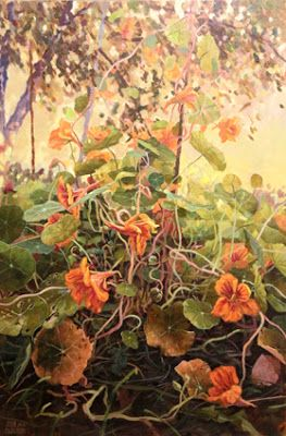 Nasturtium,part 11. Oil on canvas 100x65cm. 2016