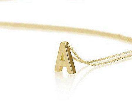 Collier monogramme - pendentif Collier or Block lettre initiale-lettre, collier personnalisé, bijoux, cadeau de demoiselle d'honneur,