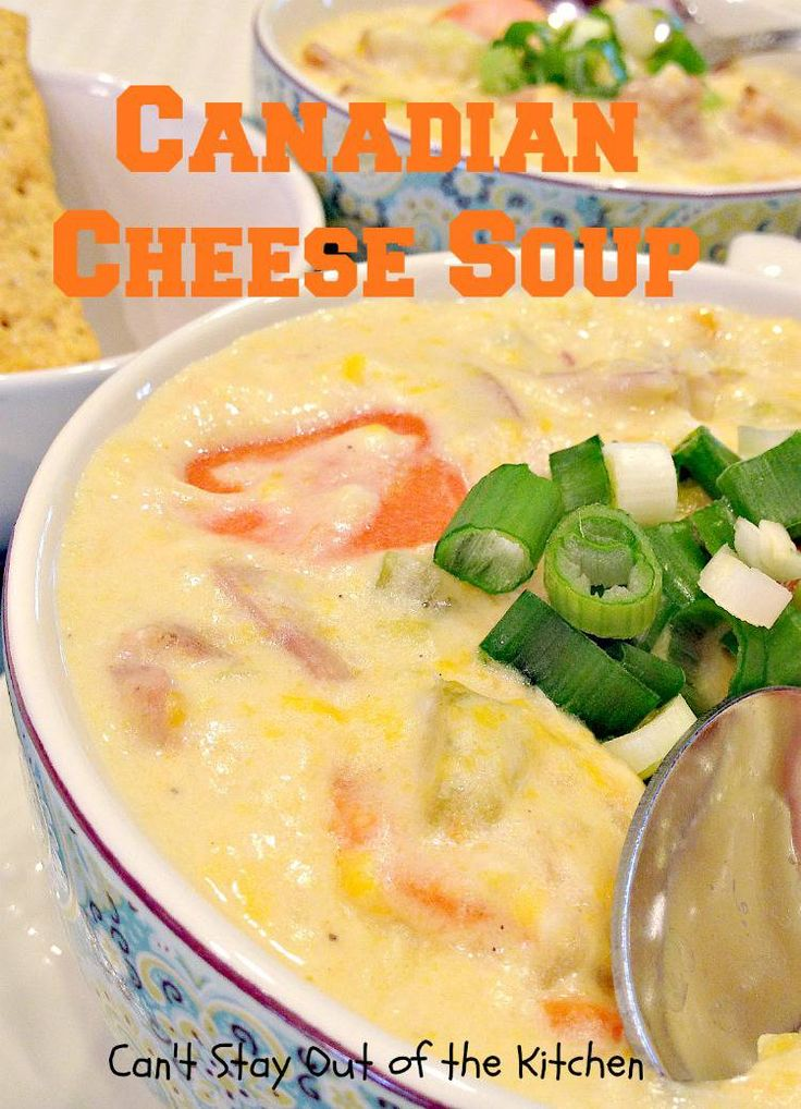 Canadian Cheese Soup Recipe Recipes Soups Cheese
