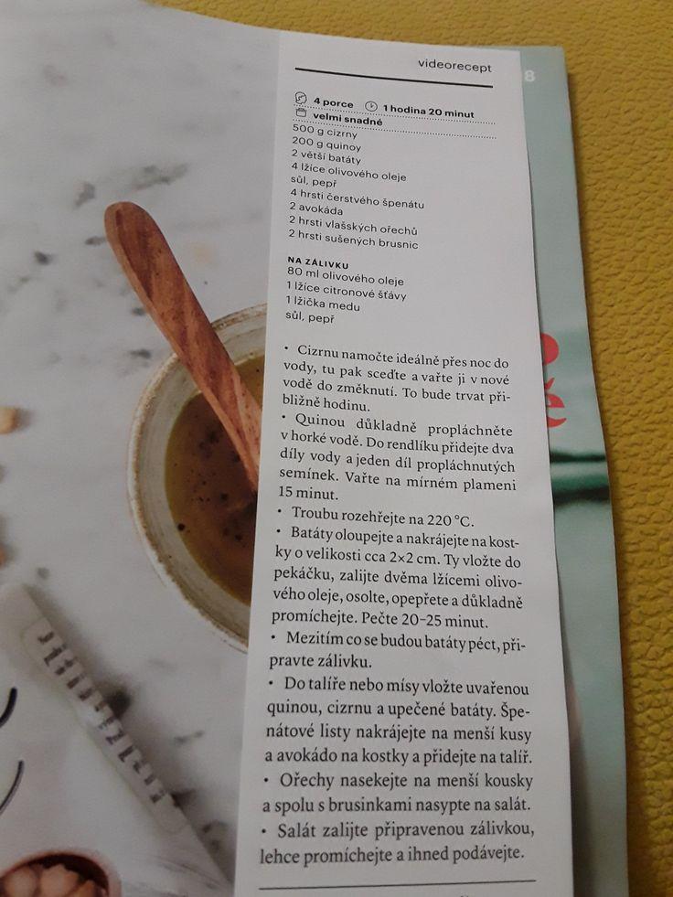 Salát s cizinou,quinoou a bataty