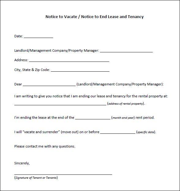 Printable Sample Eviction Letter Form