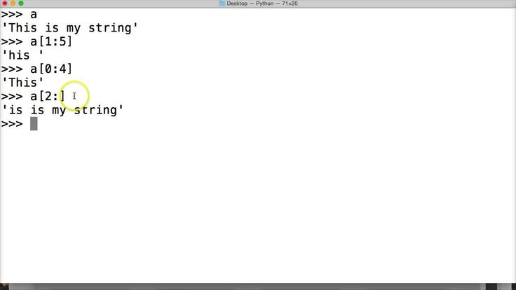 Python Tutorial: Indexing and Slicing a String In Python #47