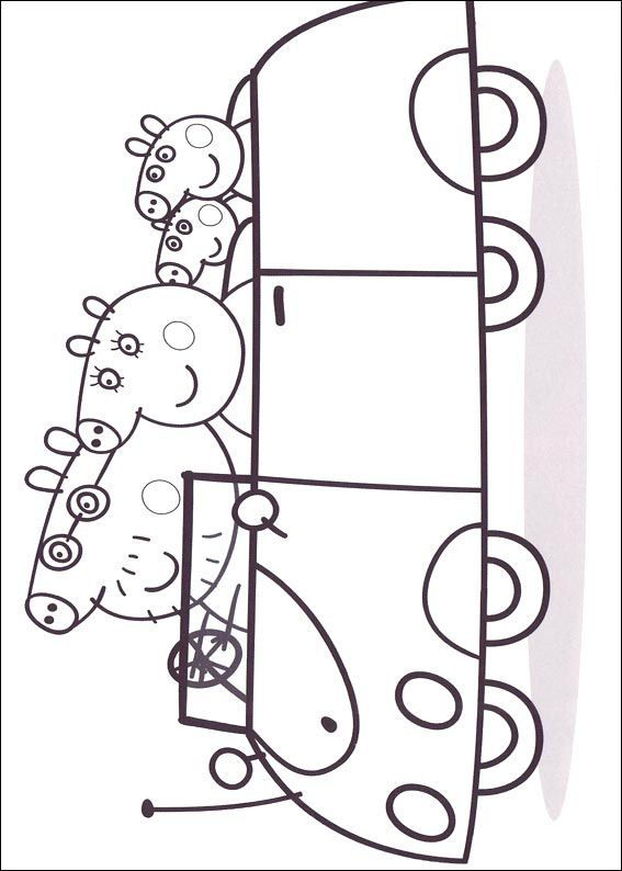 coloring page Peppa Pig Kids-n-Fun