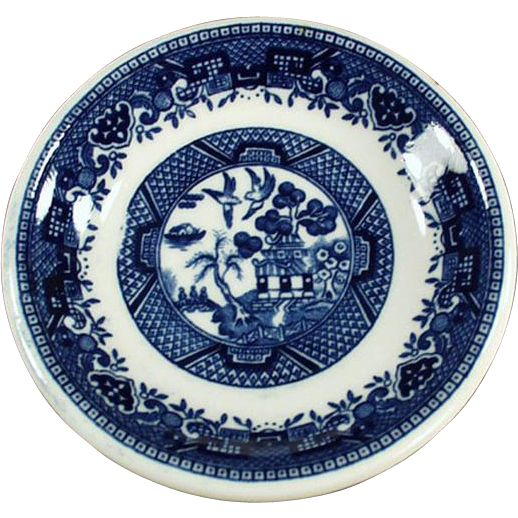 Old Butter Pat - Blue Willow Pattern  sc 1 st  Pinterest & 53 best BLUE WILLOW PATTERN DISHES images on Pinterest | Blue willow ...