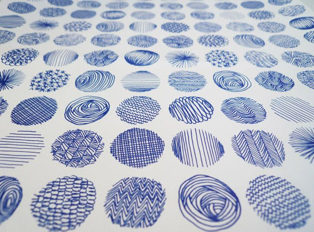 pattern: Circles, Doodle, Texture, Mark Make, Design Patterns, Colleges Crafts, How To Drawings, Blue Patterns, Cool Patterns