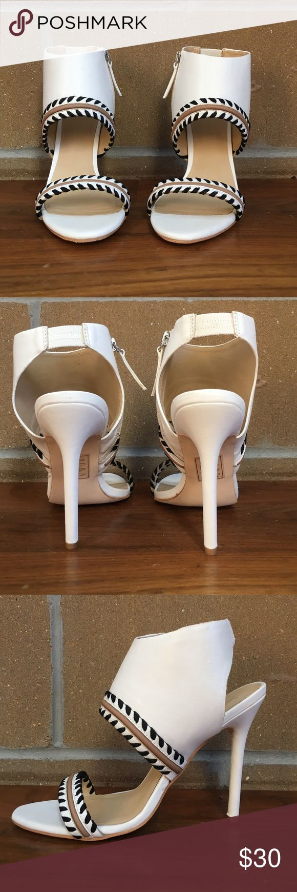 GX by  GWEN STEFANI white heel sandals US size 9.5. Designed by Gwen Stefani, Used once, did shoes care so it looks like new, with original box and protection paper.. GX by Gwen Stefani Shoes Sandals