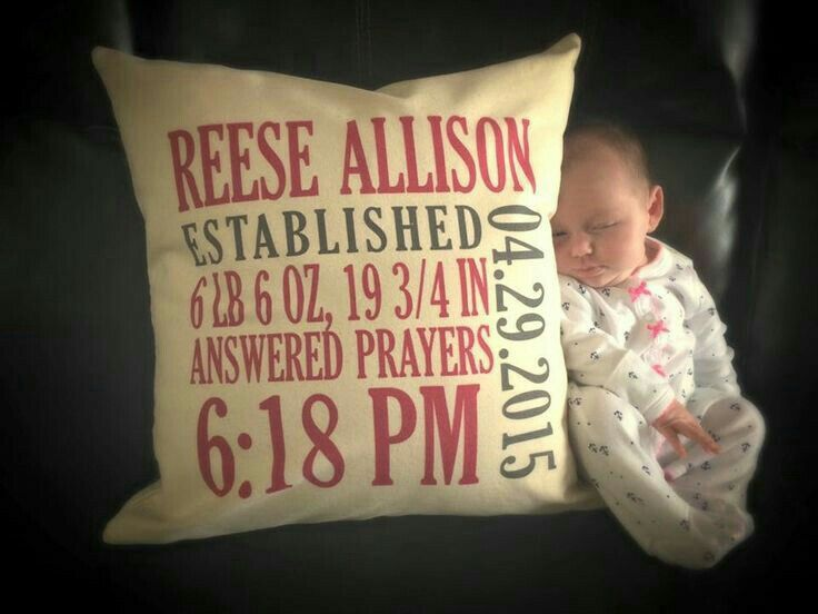 Have fun creating your own newborn establish on pillow with the statement canvas pillow cover from Thirty-One. Perfect newborn gift . #newborn #babyshower #baby. Click the link now to create your own.