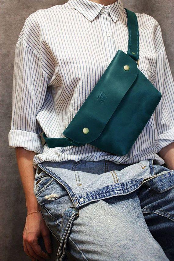 leather bag leather crossbody purse waist bags by ArtLeatherDesign