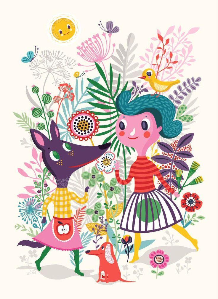 <p>Helen Dardik heeft poster Sweet speciaal voor PSikhouvanjou ontworpen. <br />De vriendelijke vos met haar mooie appelschort, de brave hond en het prachtige meisje met de de vogel op haar hoofd. Ontdek alle mooie bloemen en vlinders. De poster is gedrukt in heldere kleuren: azalea roze, koraalrood, diep paars, vergrijsd blauw en petrol-en zeegroentinten. Door de hoeveelheid kleuren past poster Sweet op elke baby-en kinderkamer. <br />Een eenvoudige lijst van IKEA (ribba) of van de HEMA en…