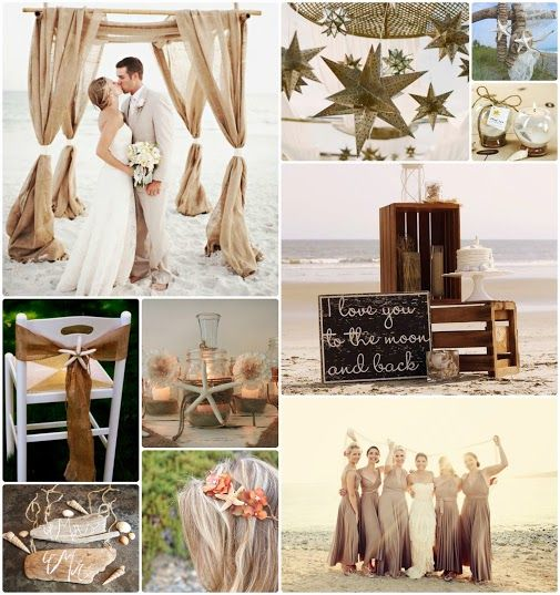 Casual Wedding Ideas: A Casual Beach Wedding With Some Rustic Charm