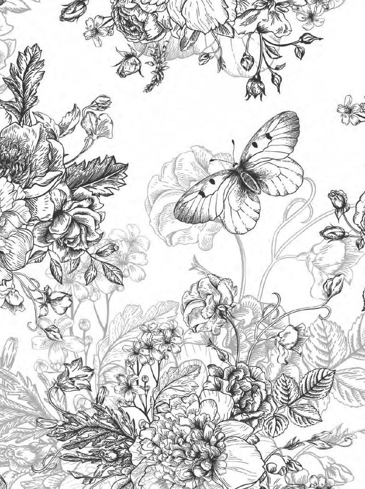 Beautiful Flowers Detailed Floral Designs Coloring Book