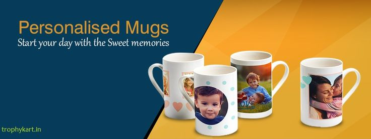 Buy Customised Designer #Mugs with Photo printed Online in India. Trophykart offers Customised Mugs & creative gifts for every occasions like diwali, new year, birthday, wedding, anniversary at affordable price.