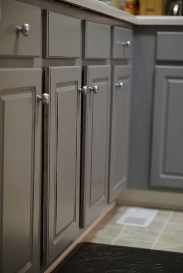 Valspar Paint Color Grey Suit The Perfect Grey To Give Your Kitchen A Quick Updated Grey Kitchen Colors Painted Kitchen Cabinets Colors Grey Painted Cabinets