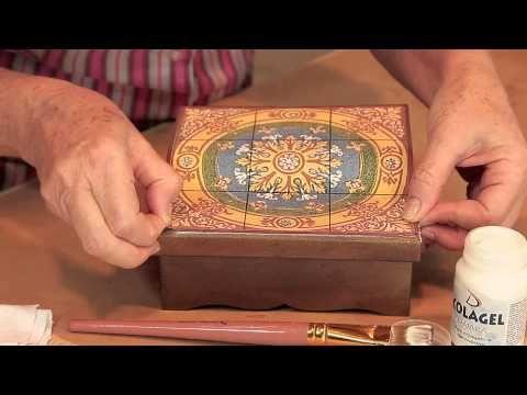 Porta jóia com adesivo e Vidro Decor