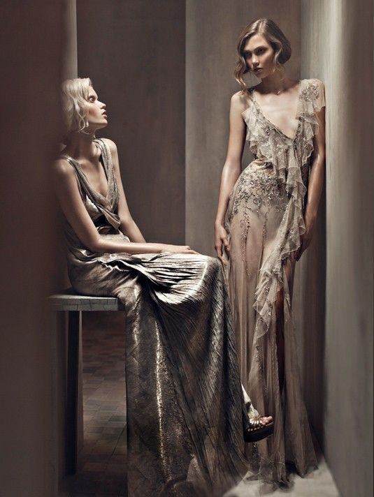 Abbey Lee Kershaw & Karlie Kloss by Patrick Demarchelier for Donna Karan Spring 2011 Campaign