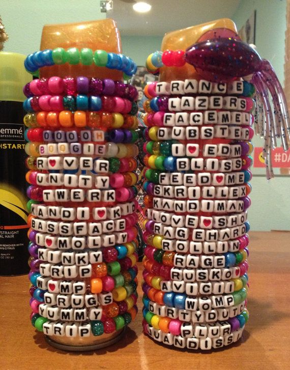 Rave Kandi Bracelet package by QueenRaver on Etsy, $8.00