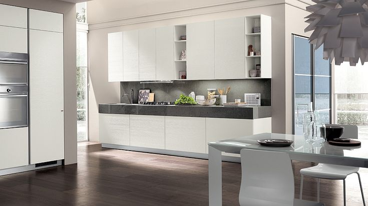 Form and functionality come together in this Scavolini kitchen