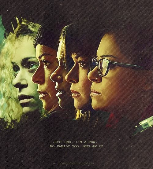 """Orphan Black Fan Art Friday. """"Just one. I'm a few. No family too. Who am I?"""""""