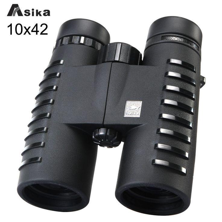 10x42 Camping Hunting Scopes Asika Binoculars with Neck Strap Carry Bag  Telescopes Bak4 Prism Optics Binoculares //Price: $57.74//     #storecharger