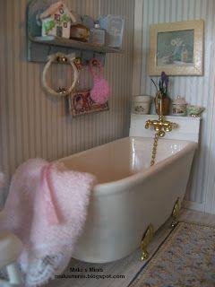 Malu´s Minis, #miniature old fashioned bath