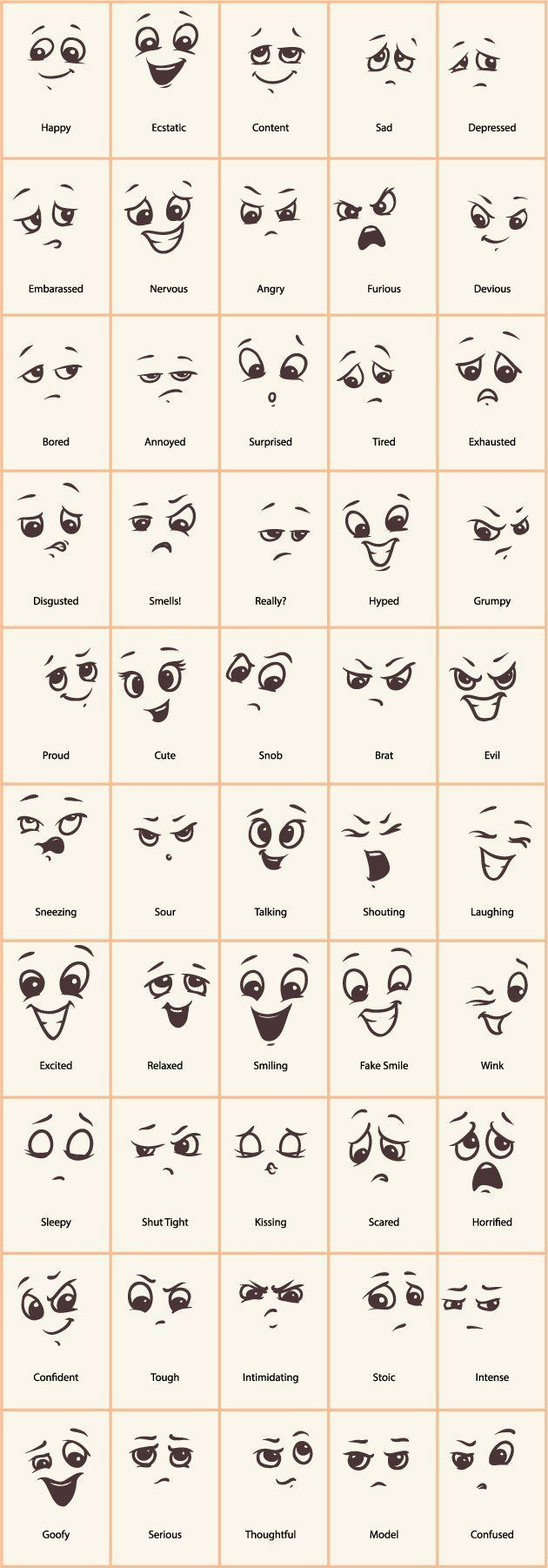 Hand drawn funny expressions vector icons – GooLoc