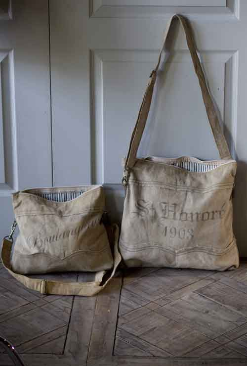 Rustic Reclaimed / Recycled Canvas Bags by Vagabond Vintage