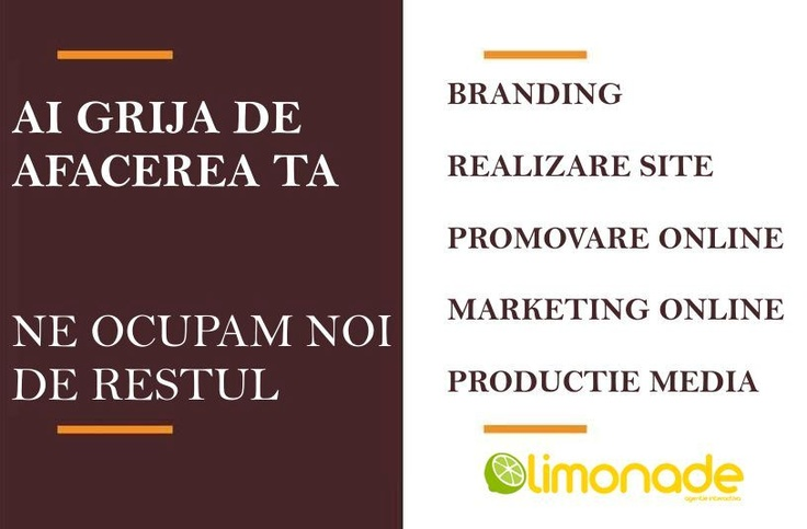 Agentia Limonade, specialisti in marketing si promovare online . Detalii pe www.limonade.ro