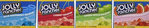 Jolly Rancher Jello: 1 Green Apple, 1 Cherry, 1 Watermelon, 1 Blue Raspberry, 2.79oz Box (Pack of 4) Jolly Rancher http://www.amazon.com/dp/B00FP493QI/ref=cm_sw_r_pi_dp_vP5Gwb0G3YPAF