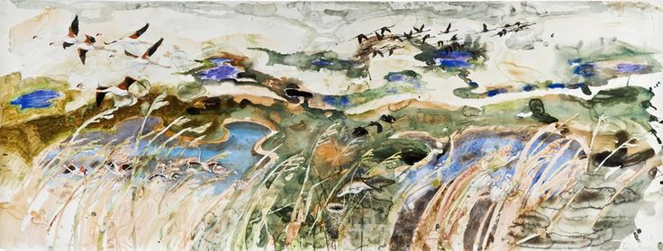 John Woolsley, aus A Natural History of Swamps I, Great Reed Warbler - Camargue Painter, Illustrator. Nature. Sublime.