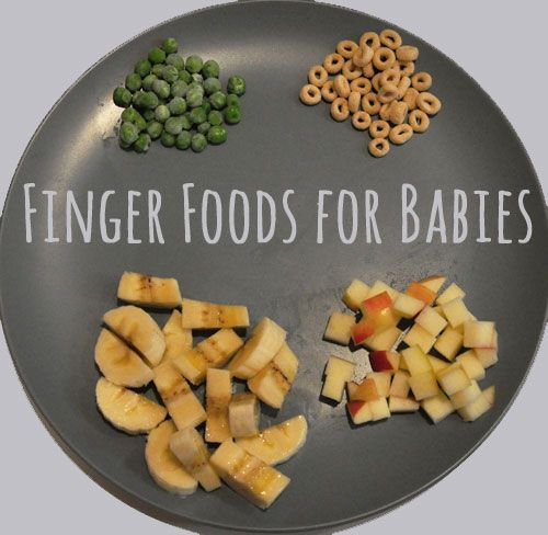 Finger Foods for Babies - has some good suggestions for baby led solids though it is now recommended to avoid wheat.
