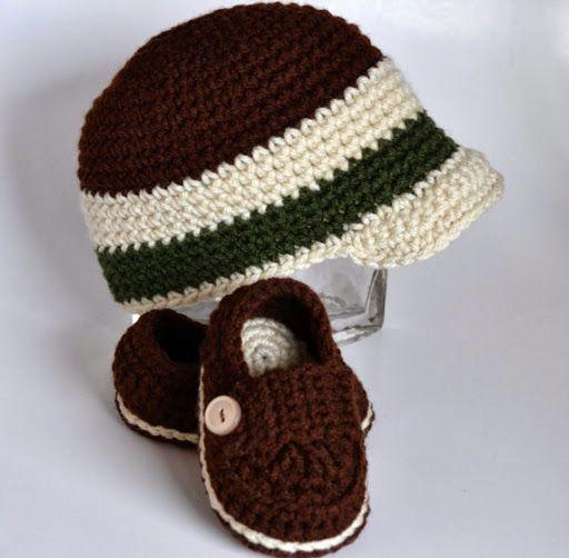 Kit Touca + Sapato Ou Bota De Crochê Bebê Meninos E Meninas (Bonés) a BRL 47.9 em PrecioLandia Brasil (92av5x)