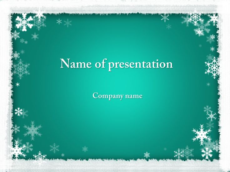 78 best images about Powerpoint templates – Winter Powerpoint Template