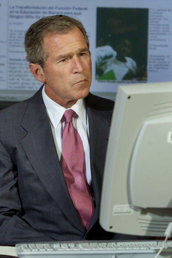 """President W. Bush Funny Quotes """"I hear there's"""