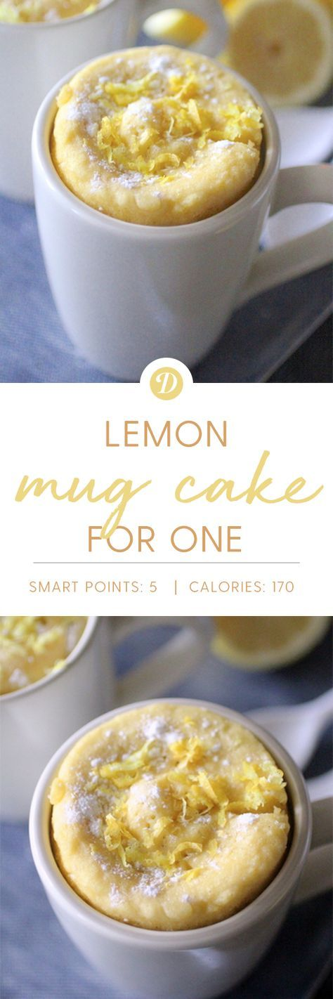 Lemon Mug Cake for One