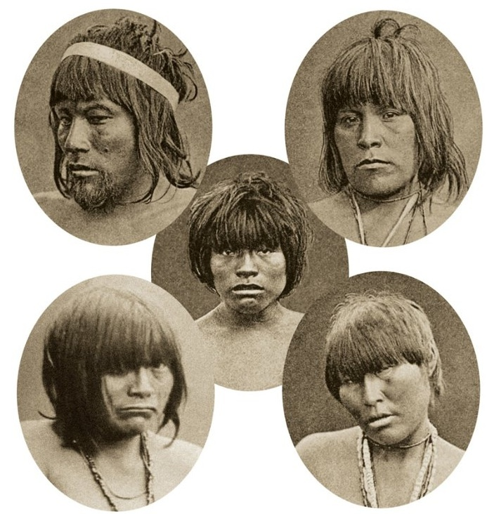 Five members of the Kawesqar tribe, from Tierra del Fuego in Chile's far south, who were taken to Europe in 1881 to be displayed.
