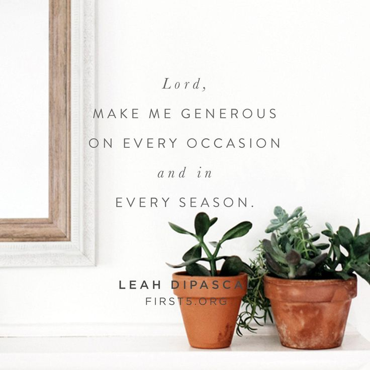 meaning of life and generosity We want to find ways to practice generosity on a daily basis for the purpose of  growing as disciples of  how can we fit daily generosity into the busyness of life.