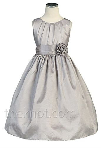 My ideal flower girl dress. Perfect considering the colors will be grey and sapphire blue!