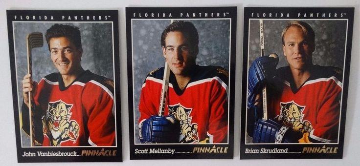 1993-94 Pinnacle Florida Panthers Team Set of 3 Hockey Cards #FloridaPanthers