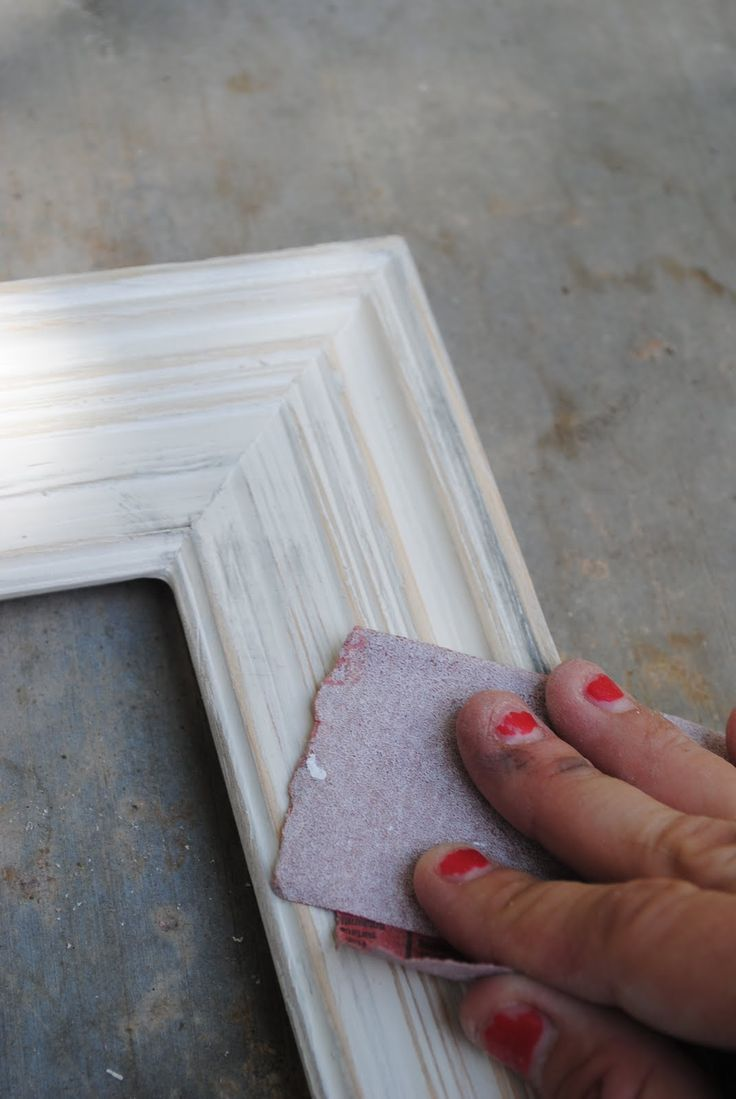 Diy Shabby Chic Frame The Blonde Lab Furniture Makeovers Pinterest Shabby Chic Frames