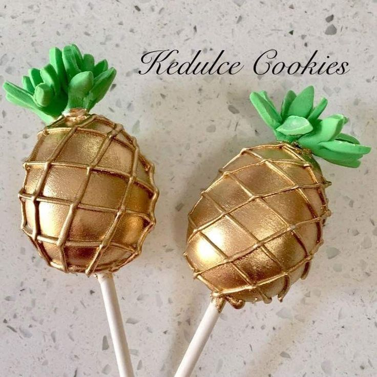 Pineapple cake pop