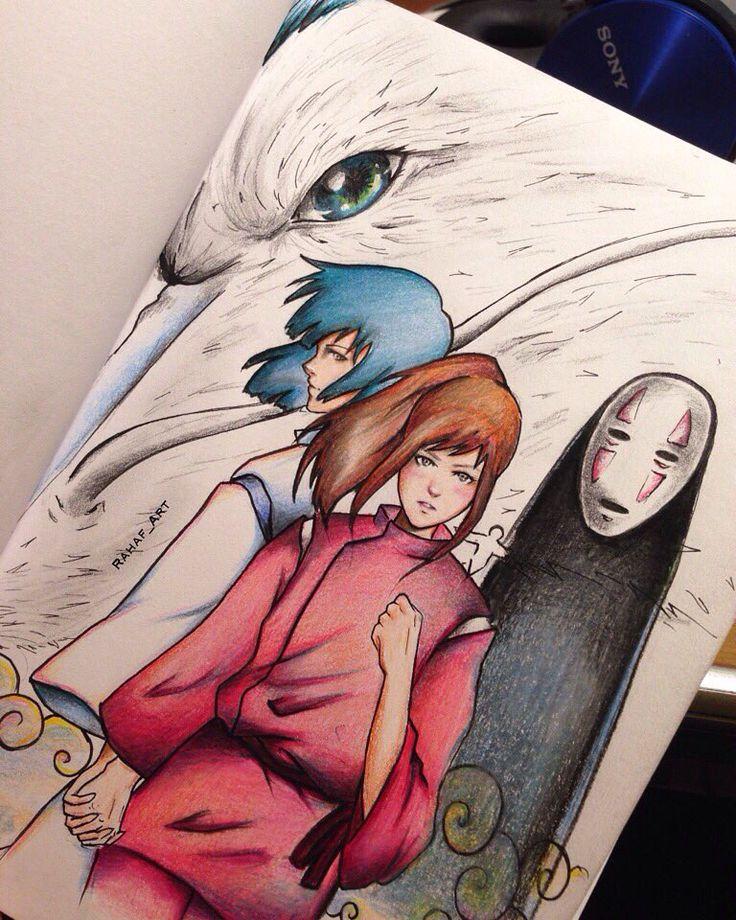 Studio ghibli Spirired away fanart   Artists Instagram : rahaf_art