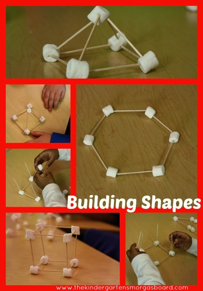 Build 2D and 3D shapes to give students a tactile lesson on shapes!