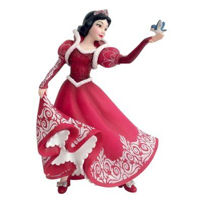 PRE-ORDER: Snow White in red holiday dress with Dopey 'Couture de Force' Disney figurine set (2017)
